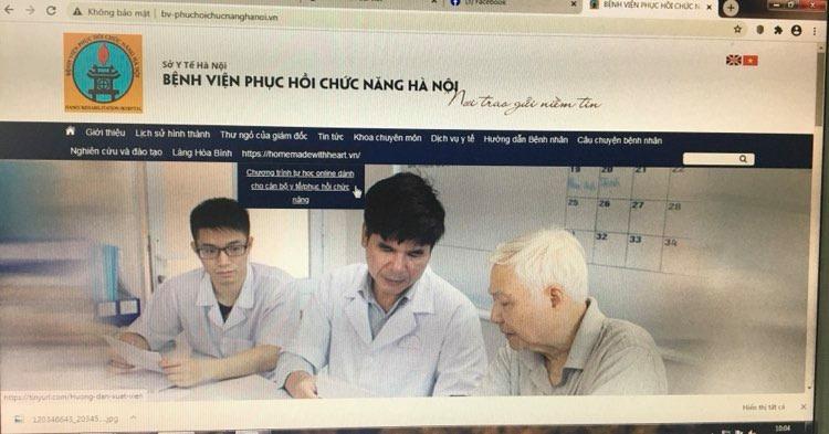 GIỚI THIỆU VỀ WEBSITE: chương trình tự học online dành cho cán bộ y tế/phục hồi chức năng