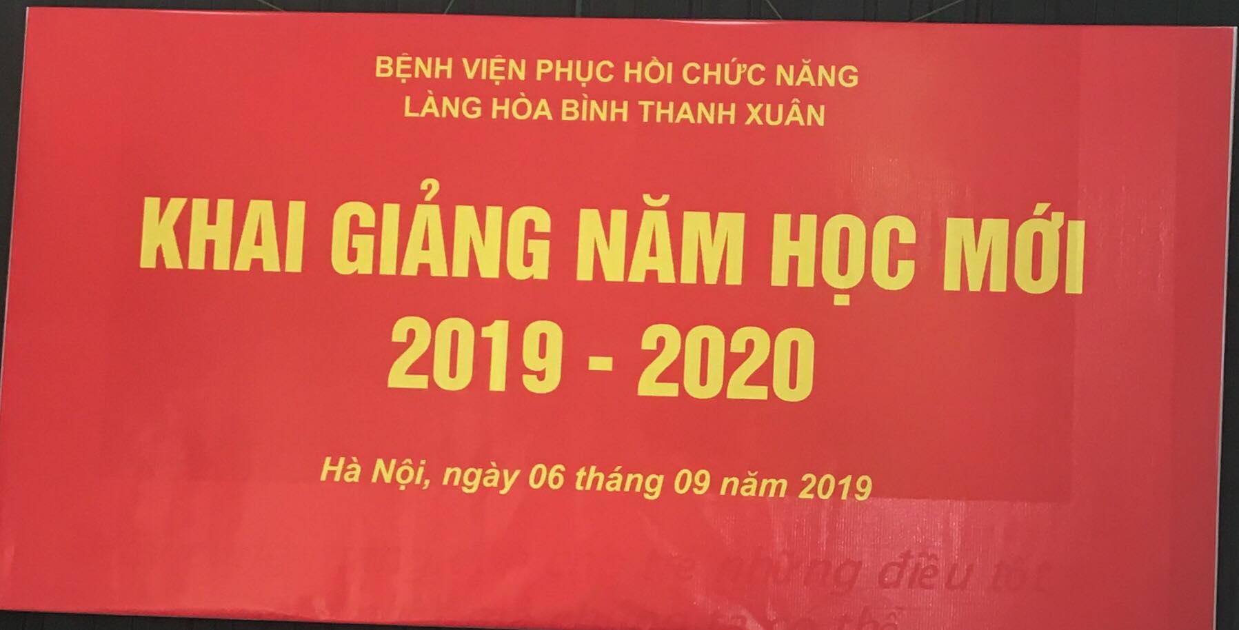 Khai giảng năm học mới 2019-2020 tại Làng Hòa Bình Thanh Xuân
